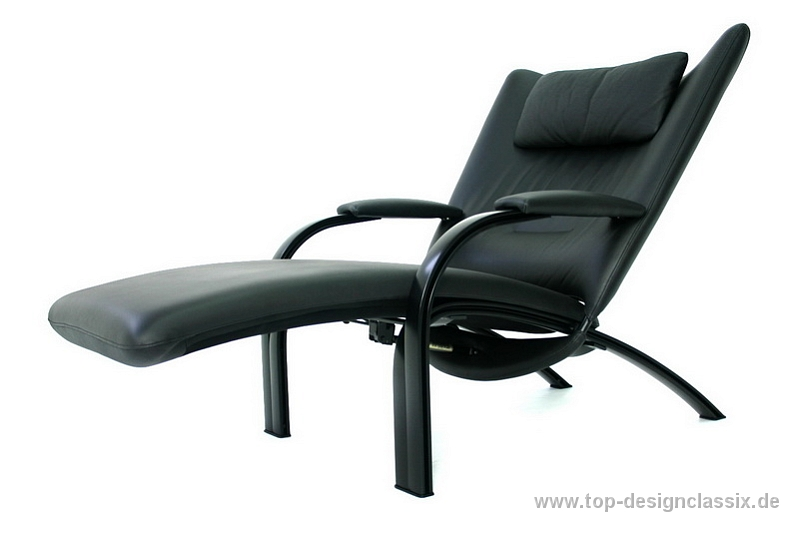 wie neu np 2900 wk wohnen spot 698 relaxchair by prof heiliger leder alu ebay. Black Bedroom Furniture Sets. Home Design Ideas