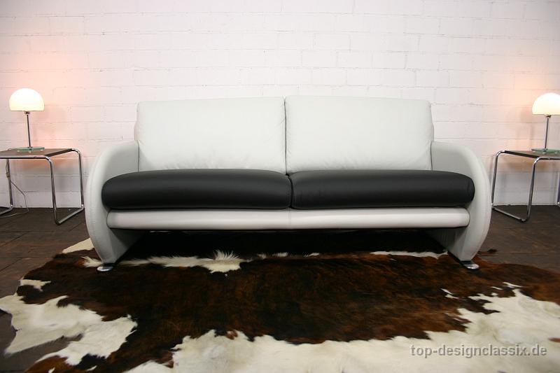 Neuwertig leolux avantgarde lounge sofa leder couch 3 for Designklassiker sofa
