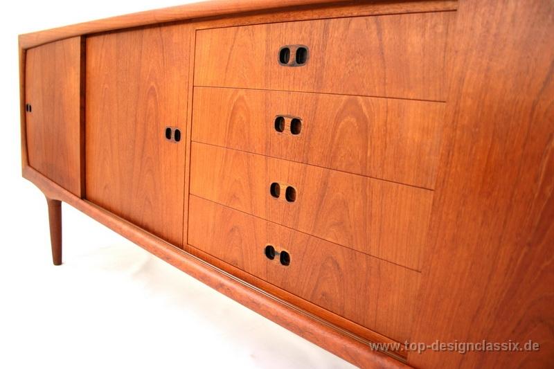 Danish Design Credenza : Randers møbelfabrik teak sideboard credenza danish design mid