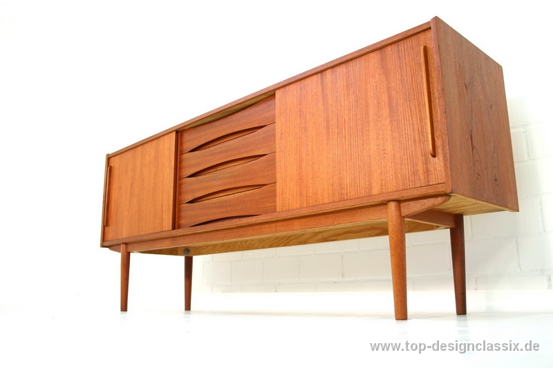 Danish Design Credenza : Arne vodder attr teak sideboard danish design mid century top
