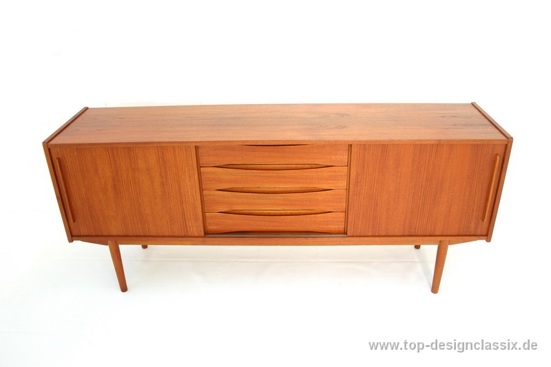 Danish Design Credenza : Arne vodder attr teak sideboard danish design mid century top