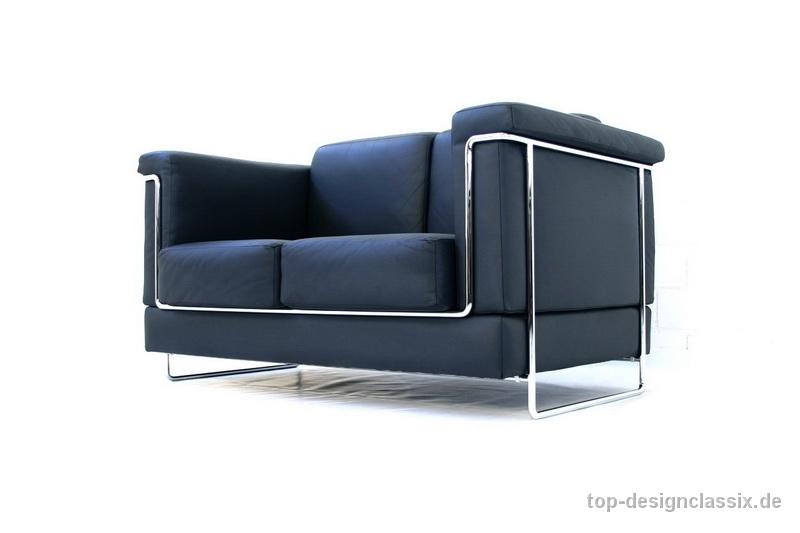 Lounge sofa leder  Züco Carat Lounge Sofa Bauhaus Chrom Leder - TOP-DESIGNCLASSIX