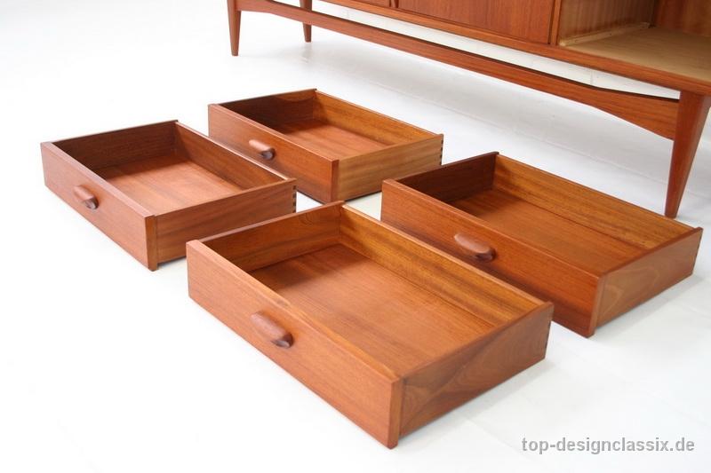 1960s Danish Credenza : Danish designed teak sideboard credenza by elliotts of newbury