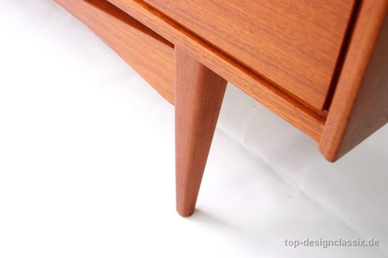 1960s Danish Credenza : Mid century danish rosewood sideboard credenza drawers media