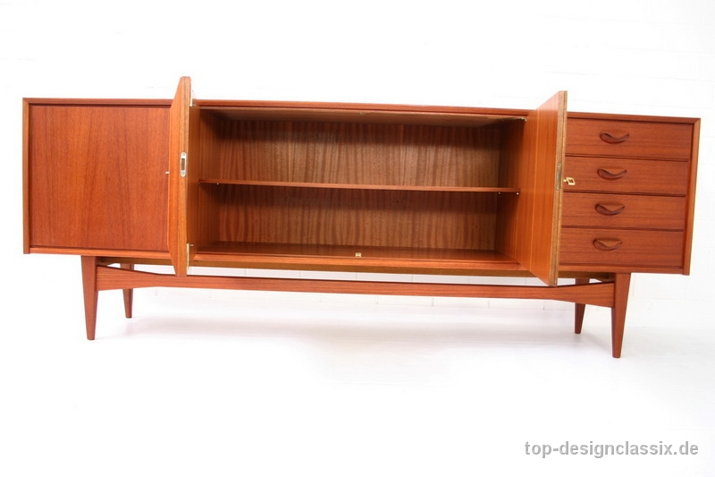 1960s Danish Credenza : S danish style heal long teak sideboard folksy