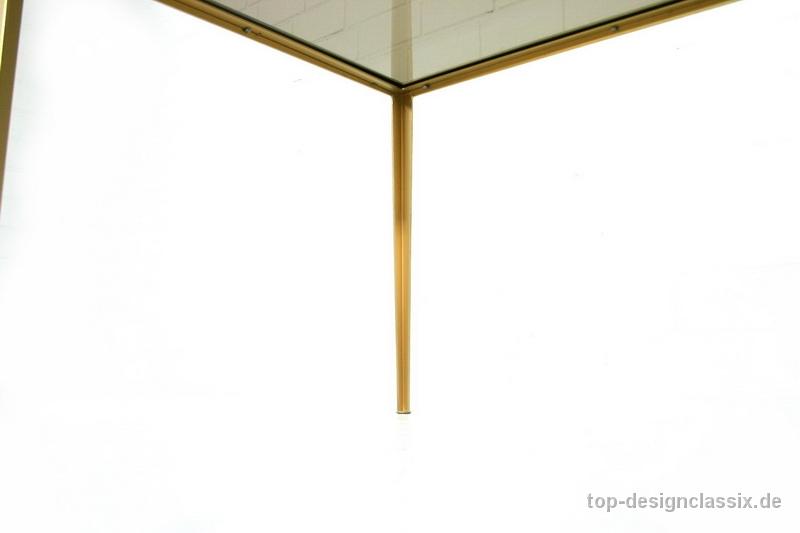 Vereinigte Werkstaetten Brass Glass Coffee Table Messing Glastisch Top Designclassix