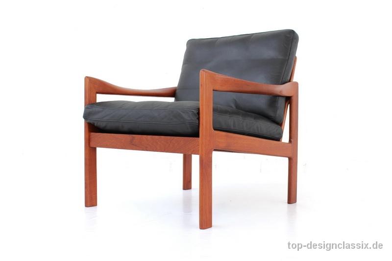 Teak Lounge Chair Sessel Von Illum Wikkelsø Für Niels Eilersen In