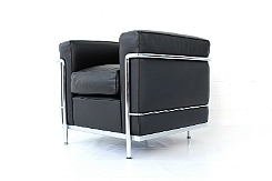 Cassina Le Corbusier LC2 Lounge Chair / Leder Sessel - TOP-DESIGNCLASSIX