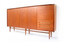 Mid-Century Teak Sideboard / Highboard by Bartels, Germany 1960s