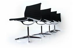 "Set of 4 Herman Miller / Vitra Eames Alu Chair EA 101 ""Early Version"""