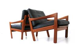 Iillum Wikkelsø Danish Lounge Chair for Niels Eilersen
